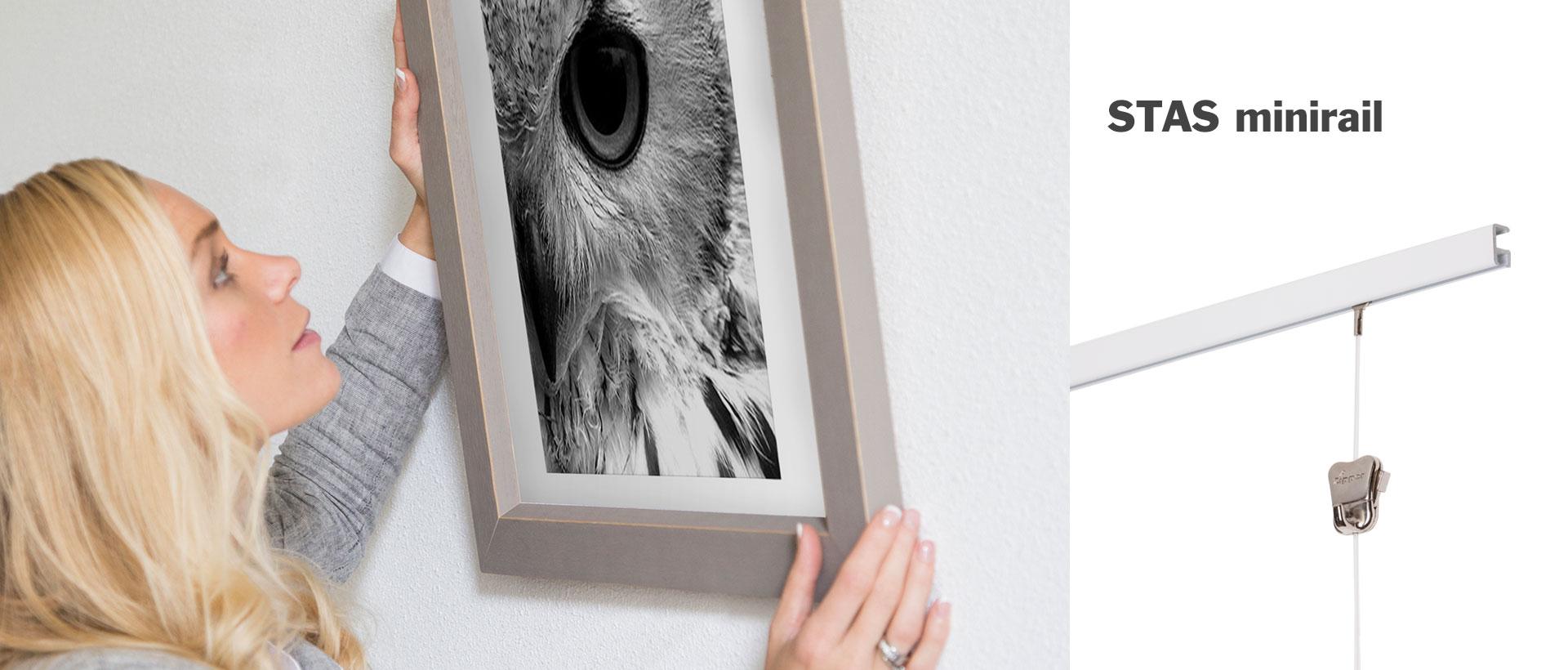 Attache Tableau Sans Percer cimaises pour tableaux - stas picture hanging systems